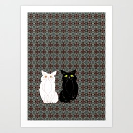 Opposites Attract 2 Art Print