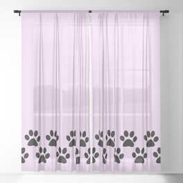 Muddy Paws Sheer Curtain