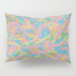 Fun: Green, Yellow, Peach, Blue, and Pink Abstract Pillow Sham