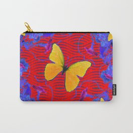 Red & Blue Yellow Butterflies Abstract Carry-All Pouch