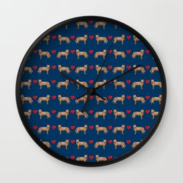 Australian Cattle Dog red heeler hearts love dog breed gifts cattle dogs Wall Clock