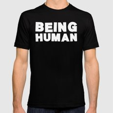 Being Human Black MEDIUM Mens Fitted Tee