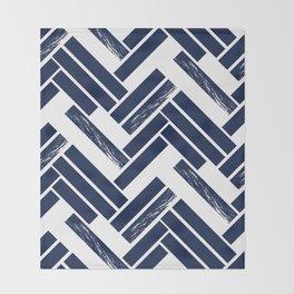 Modern Chevron - Blue Throw Blanket