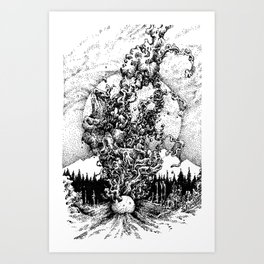 colour out of space Art Print