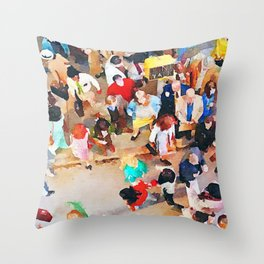 Wisdom of Crowds Throw Pillow