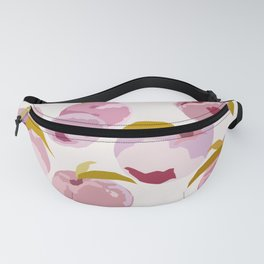 Pink Peaches Pattern by The Botanical Study Fanny Pack