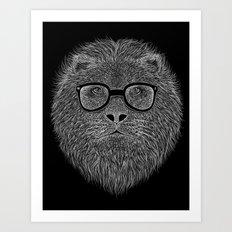 WHITE LION Art Print
