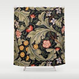 William Morris Laurel Multi-Colored Floral Textile Pattern Sunflower, Aster, Dahlia Shower Curtain