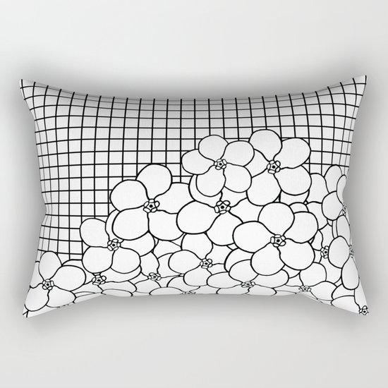 Forget Me Knot Grid Rectangular Pillow