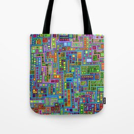 Tiled City Tote Bag
