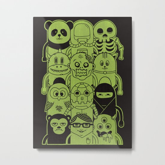 Famous Characters Metal Print