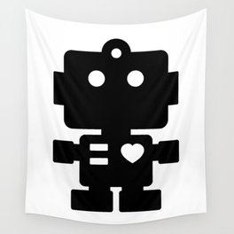 Cute Robot Wall Tapestry