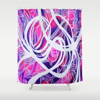 tooth Shower Curtains featuring SWEET TOOTH by AMANDA MORIE