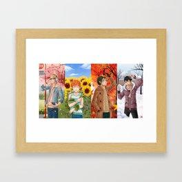 HAIKYUU!! - 1st YEAR 4 SEASONS Framed Art Print
