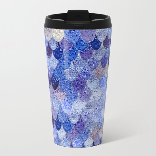 SUMMER MERMAID ROYAL BLUE Metal Travel Mug
