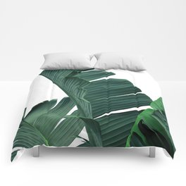Tropical Leaf Print, Botanical Wall Art Print, Banana Leaf Print ,Tropical Decor Comforters