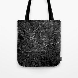 Atlanta Black Map Tote Bag