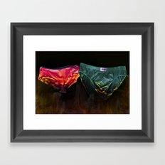 pants on fire Framed Art Print