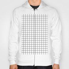 Geometric Black and White Grid Print Hoody