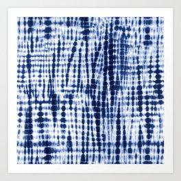 Shibori Tie Dye Pattern Art Print