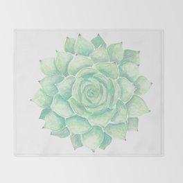 Watercolour succulent Throw Blanket