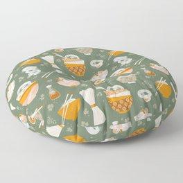 Noodle bowl dishes Floor Pillow