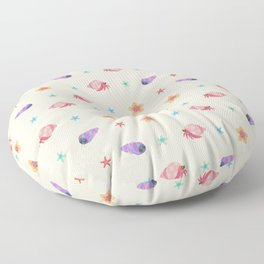 Hermit crab & starfish Floor Pillow