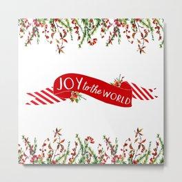 Joy to the World Banner Metal Print