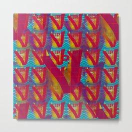 V - pattern VIP Metal Print