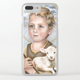 Jesus Lamb of God as Child Clear iPhone Case