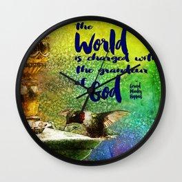 Jewel Hummingbird ~ World God Quote ~ Ginkelmier Inspired Wall Clock