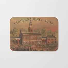 Vintage Independence Hall Illustration (1878) Bath Mat