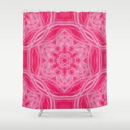 Elegant hot-pink kaleidoscopes Shower Curtain