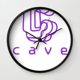 Cave Co. Purple Wall Clock