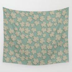 Vintage Leaves Wall Tapestry