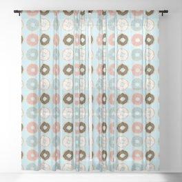Sweet Sprinkled Donuts Sheer Curtain