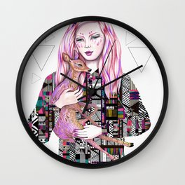 EMBRACE by Kris Tate and Ola Liola  Wall Clock