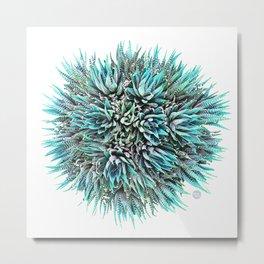 Cactus Crown 1. Blue & Green #decor #buyart Metal Print