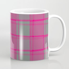 Juicy strokes of gray cells with jagged strawberry stripes and lines. Coffee Mug