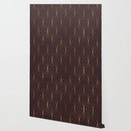 ELEGANT BLACK BEAN COPPER PATTERN Wallpaper