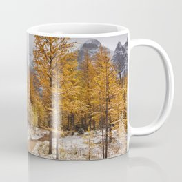 II - Larch trees in fall after first snow, Banff NP, Canada Coffee Mug