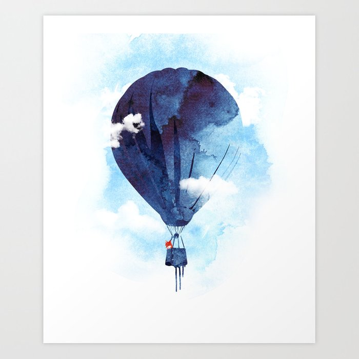 Discover the motif BYE BYE BALLOON by Robert Farkas as a print at TOPPOSTER