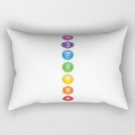 7 Chakra Symbols #01 Rectangular Pillow
