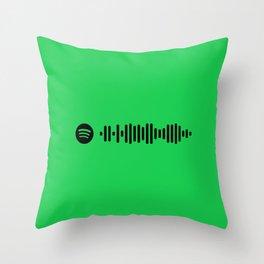 Green Spotify Throw Pillow