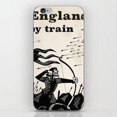 England 1066 vintage travel train poster iPhone & iPod Skin
