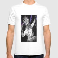 ALMIGHTY THOR White MEDIUM Mens Fitted Tee
