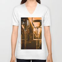 glass V-neck T-shirts featuring Glass by Euan Anderson
