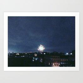 Brooklyn Fireworks Art Print