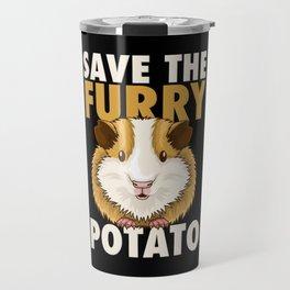 Furry Potato T-Shirt guinea pig lover gift Travel Mug