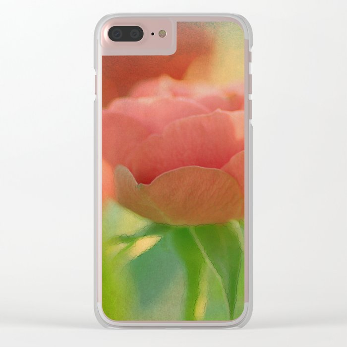 Romantic rose 5 Clear iPhone Case